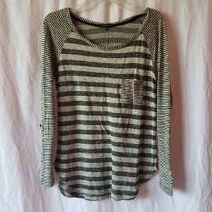 Staccato stitch fix striped knit top size small